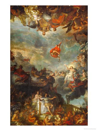 Louis XIV Governs Alone, Ostentation of the Neighbouring Powers of France-Charles Le Brun-Giclee Print