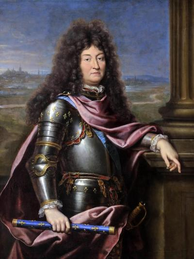 Louis XIV, King of France (1638-171)-Pierre Mignard-Giclee Print