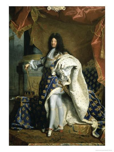 Louis XIV, King of France, c.1701-Hyacinthe Rigaud-Giclee Print