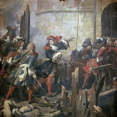 Louis XIV Leads the Assault of Valenciennes, 17th Century-Jean Alaux-Giclee Print