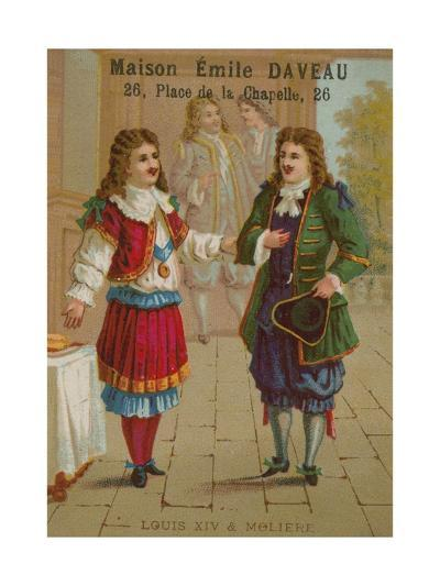 Louis XIV of France and Moliere--Giclee Print