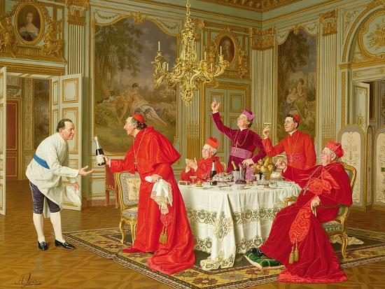 Louis Xiv's Apartments at Versailles, the Chef's Birthday-Andrea Landini-Giclee Print