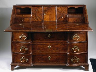 Louis XIV Style Walnut Drop Leaf Writing Desk, Open, Built in Genoa, Italy, 17th-18th Century--Giclee Print
