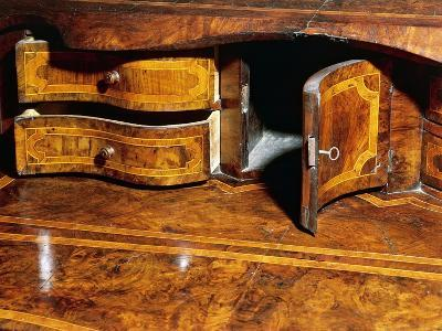 Louis XIV Style Walnut Marche Chest of Drawers with Drop Leaf, Italy, Detail--Giclee Print