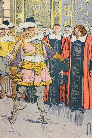 Louis XIV Visiting the French Parliament-Louis Bombled-Giclee Print