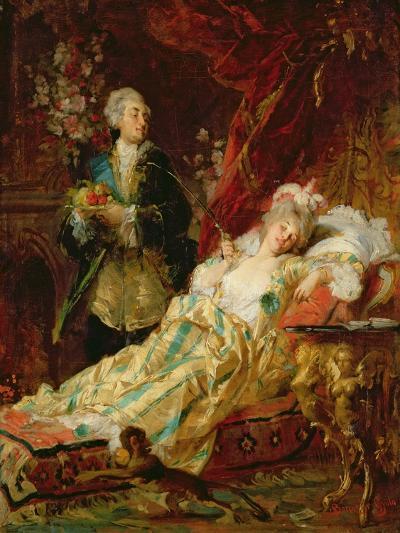 Louis XV and Madame Dubarry-Gyula Benczur-Giclee Print
