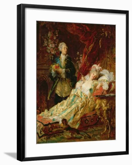 Louis XV and Madame Dubarry-Gyula Benczur-Framed Giclee Print