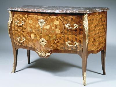 Louis XV Style Chest of Drawers with Kingwood, Madagascar Rosewood and Amaranth Inlays, France--Giclee Print