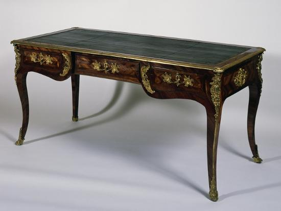 Louis XV Style Satinwood Writing Desk, France--Giclee Print