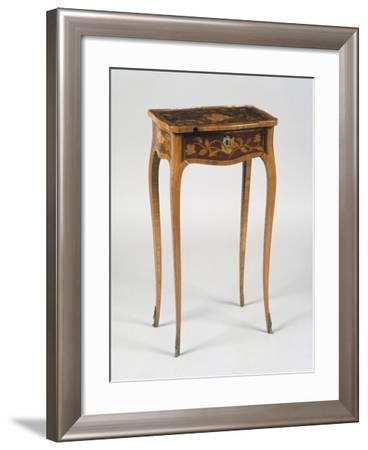 Louis XV Style Table with Inlays, France--Framed Giclee Print