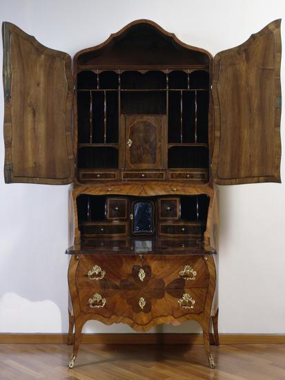 Louis XV Style Trumeau Cabinet in Tulipwood, Kingwood and Rosewood, 1760--Giclee Print