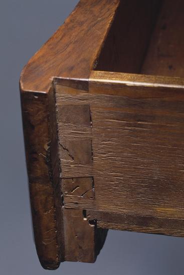 Louis XV Style Walnut Genoese Diplomat Writing Desk, Italy, Detail of Drawer--Giclee Print