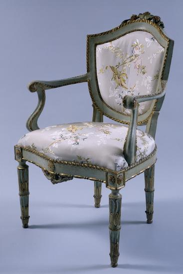 Louis XV-XVI Transition Period Lacquered and Gilt Venetian Armchair, Italy--Giclee Print