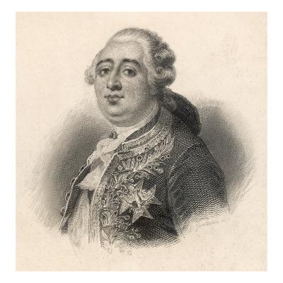 Louis XVI King of France 1774 - 1792--Giclee Print