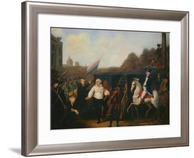 Louis XVI taken to the Place of Execution January 21, 1793-Charles Benazech-Framed Giclee Print