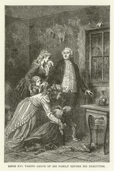 Louis XVI Taking Leave of His Family before His Execution--Giclee Print