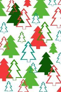 Overlaid Christmas Trees, 2017 by Louisa Hereford