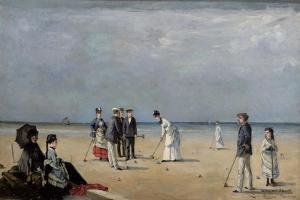 A Game of Croquet, 1872 by Louise Abbema