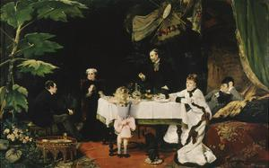 Lunch in the Conservatory, 1877 by Louise Abbema