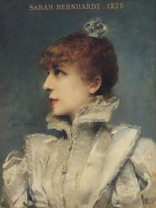 Sarah Bernhardt (1844-1923) 1875 by Louise Abbema
