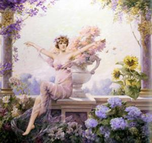 Splendor of Spring Flowers by Louise Abbema