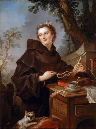Louise Anne De Bourbon (1695-175), Countess of Charolais-Charles Joseph Natoire-Giclee Print