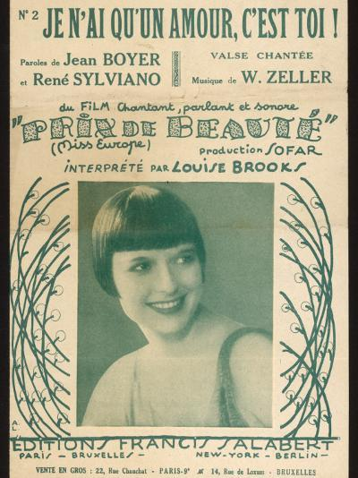 Louise Brooks Song Sheet--Photographic Print