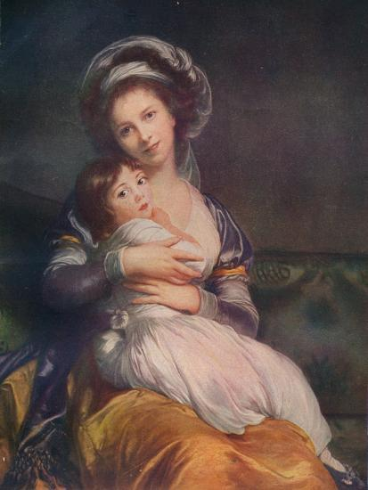 Louise Elisabeth Vigee Le Brun (1755-1842) with her daughter Jeanne-Lucie, 1786, (1911)-Elisabeth Louise Vigee-LeBrun-Giclee Print