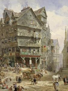 The High Street from the West Bow, Edinburgh by Louise J. Rayner