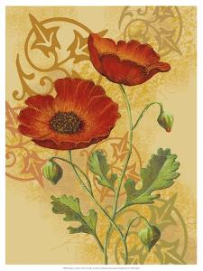 Poppies on Gold I by Louise Max