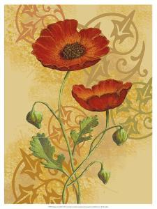 Poppies on Gold II by Louise Max