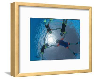 Children Snorkeling on Pool Surface in Star Shape, Egypt