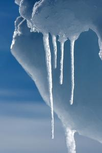 Ice Melting in the High Arctic Sun in Spring, Nunavut, Canada, North America by Louise Murray
