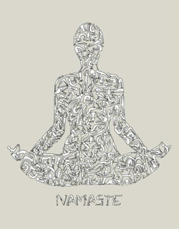 Namaste by Louise Tate