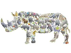 Rhino by Louise Tate