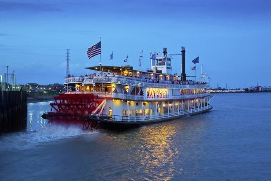 Louisiana, New Orleans, Natchez Steamboat, Mississippi River-John Coletti-Photographic Print