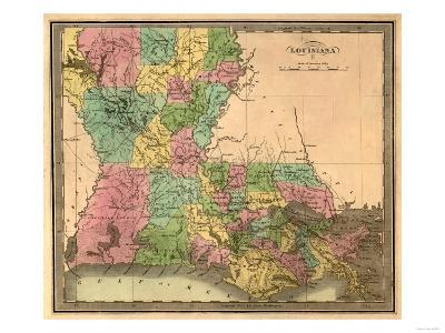 Louisiana - Panoramic Map-Lantern Press-Art Print