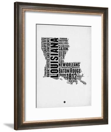 Louisiana Word Cloud 2-NaxArt-Framed Art Print