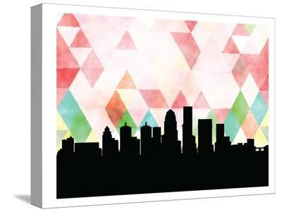 Louisville Triangle-Paperfinch 0-Stretched Canvas Print