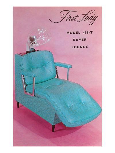 Lounge Chair for Hair Dryer--Art Print