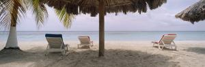 Lounge Chairs on 7-Mile Beach, Negril, Jamaica