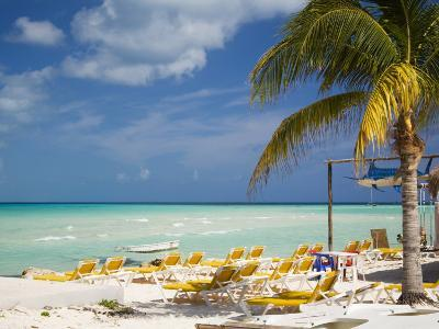 Lounging Chairs, Isla Mujeres, Quintana Roo, Mexico-Julie Eggers-Photographic Print