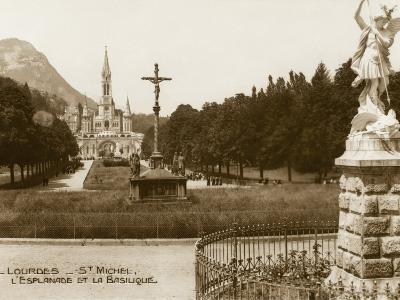 Lourdes - Statue of St. Michael--Photographic Print