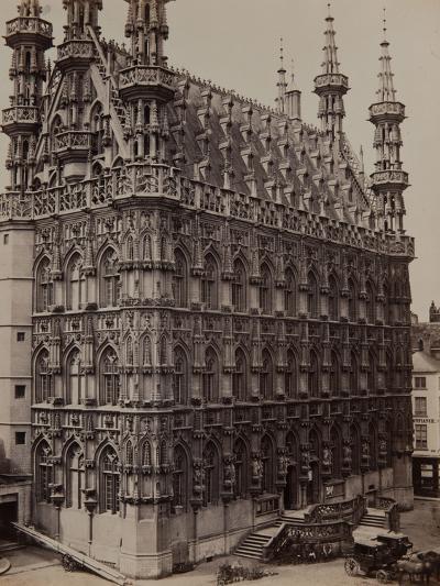 Louvain: the Townhall, 1857-Camille Pissarro-Photographic Print