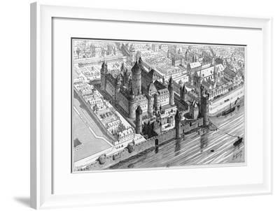 Louvre in Paris, at Time of King Charles V, 1380, France, 14th Century--Framed Giclee Print