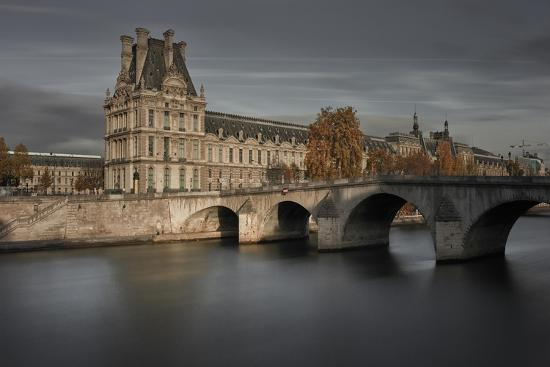 Louvre on Autumn-Moises Levy-Giclee Print