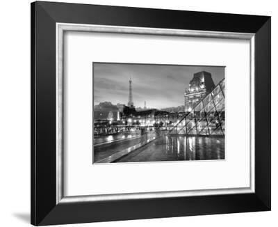 Louvre with Eiffel Tower Vista #2-Alan Blaustein-Framed Photographic Print
