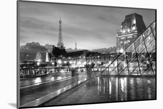 Louvre with Eiffel Tower Vista #2-Alan Blaustein-Mounted Photographic Print