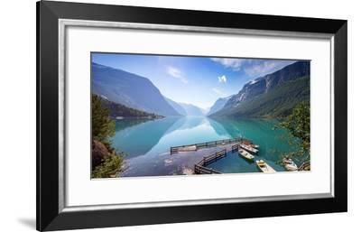 Lovatnet Lake, Norway, Panoramic View- Bogomyako-Framed Photographic Print