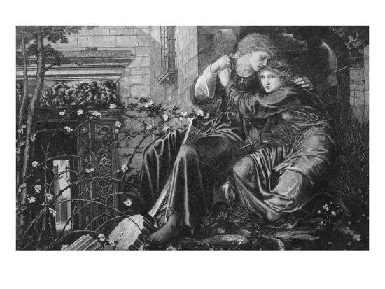 Love Among the Ruins, 1894, Engraved by M Dormoy-Edward Burne-Jones-Giclee Print